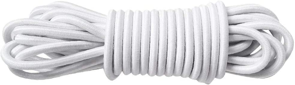 longitud de 15 metros macram/é BESTVALUETHINGS Cuerda el/ástica blanca de 5 mm con cord/ón el/ástico para atar joyer/ía
