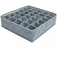 Tjackson 30 Grids Underwear Socks Storage Drawer Closet Bamboo Charcoal Organizer Box
