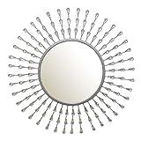 Posadas Silver Tear Drop Round Wall Mirror