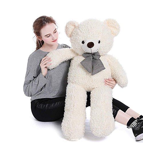 Toys Studio Giant Teddy Bear Plush Stuffed Animals for Girlfriend or Kids (White, 39 inch)