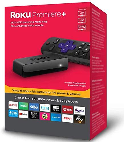 🥇 Roku Premiere+ 3921RW 4K HD HDR Media Streamer with Enhanced Voice Remote 2018