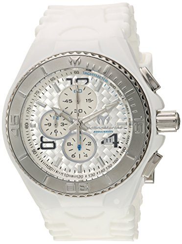 Technomarine Men's 'Cruise' Quartz Stainless Steel and Silicone Casual Watch, Color:White (Model: (Cruise Chrono Watch)