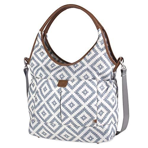- OiOi Multi Pocket Baby Diaper Bag Hobo - Grey Aztec