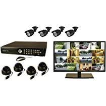 Security Labs SLM460 16-Channel 1TB Security System with 22-Inch Monitor (Black)