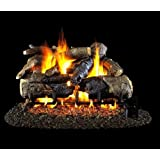 Peterson Gas Logs 24-inch Charred American Oak Logs Only No Burner