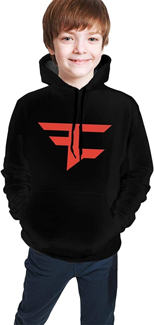 Faze Clan Logo Mens Pullover Hooded Sweatshirt Casual Hoodies with Big Pocket