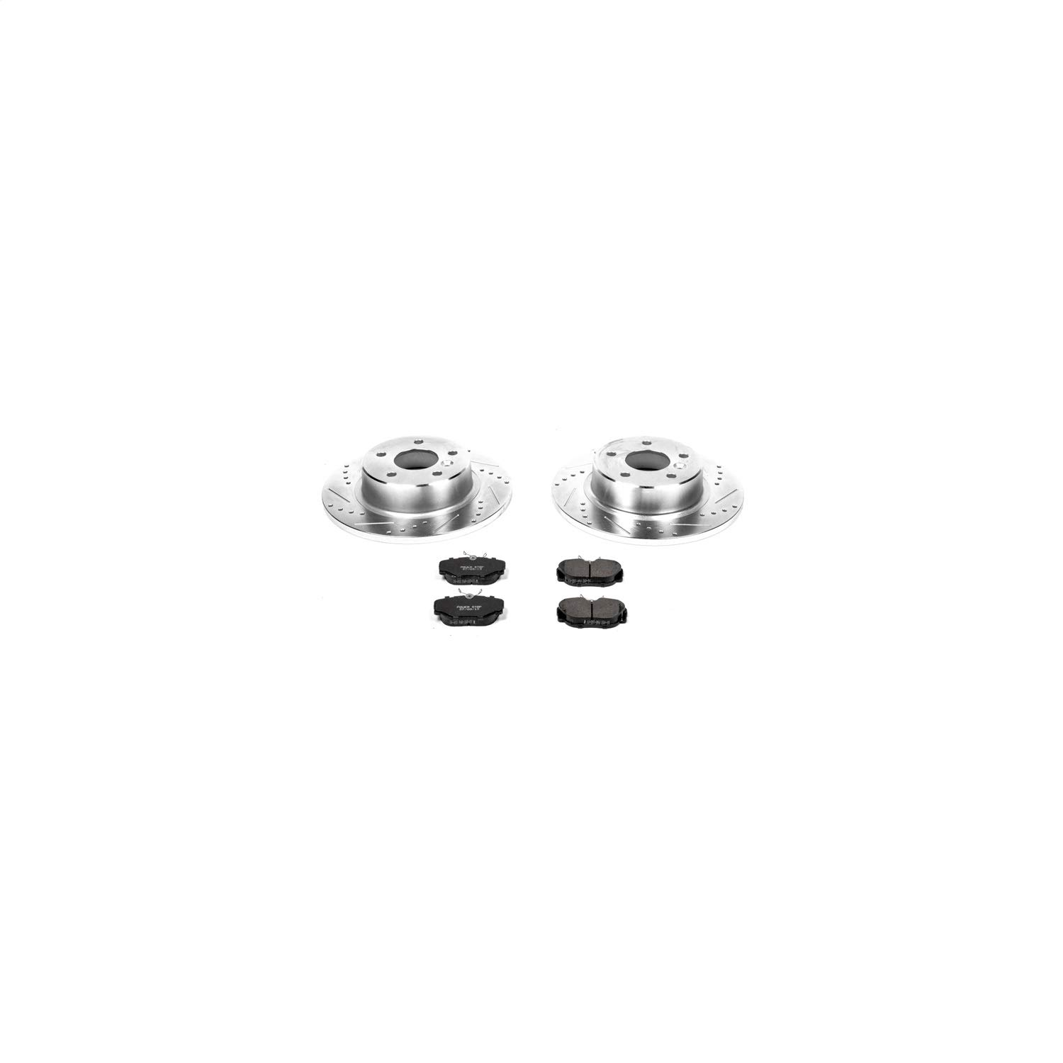Power Stop K5106 Front Z23 Evolution 1-Click Brake Kit for Land Rover Discovery