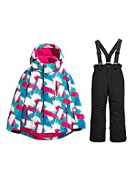 Girls Winter Jacket Pants Ski Suit High Windproof Waterproof Snow Coats