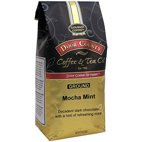 Door County Coffee, Mocha Mint, Ground, 10oz Bag