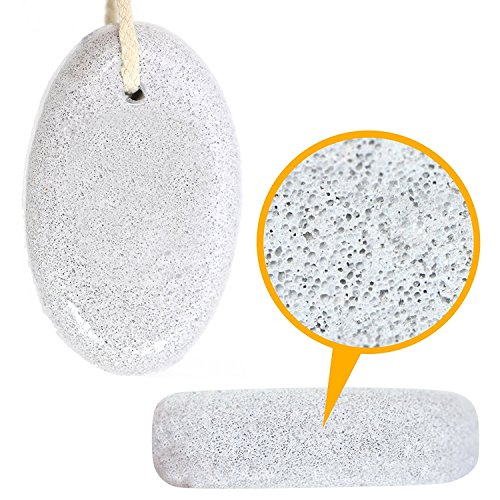 Pumice Stone for Home, Beauty, Cleaning with Organic Lava (White) Pumice Stone Hair