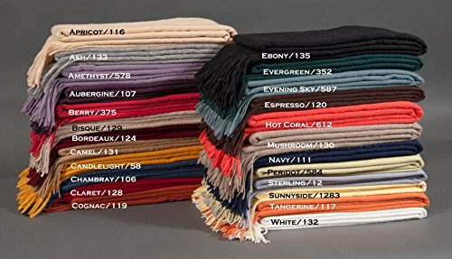 Cashmere Basket Weave Throw by Alashan Cashmere by Alashan Cashmere