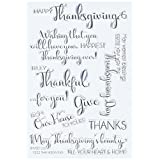"My Sentiments Exactly Clear Stamps 4""X6"" Sheet-Thanksgiving Innies & Outies"