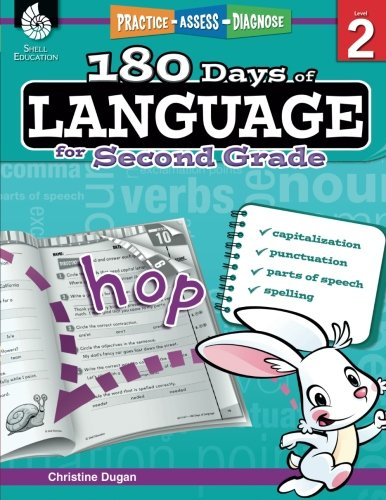 180 Days of Language for Second Grade – Build Grammar Skills and Boost Reading Comprehension Skills with this 2nd Grade Workbook (180 Days of Practice)