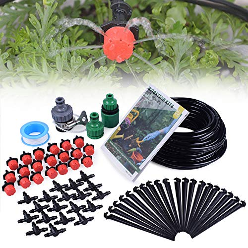 - MIXC 1/4-inch Drip Irrigation Kits Plant Watering System Accessories Fitting with 50ft 1/4