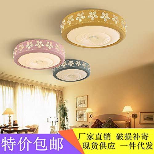 Moderne minimalistische Lampe Schlafzimmerlampe runde Deckenleuchte moderner minimalistischer Studienbalkon, grün 52  10cm-80W, stufenloses Dimmen + Fernbedienung