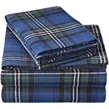 Pinzon Plaid Flannel Bed Sheet Set - Queen, Blackwatch Plaid