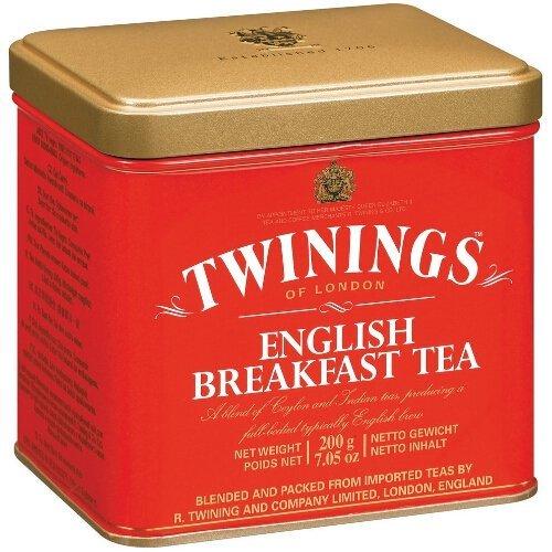 Twinings English Breakfast 200 Gram Loose Tea Tin, Set of 2