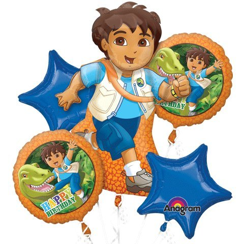 Go Diego Go Dora The Explorer Mylar Foil Balloon Set Bouquet by Loftus -