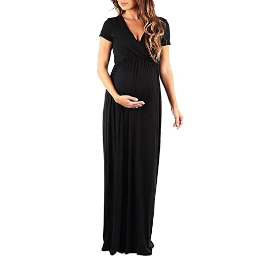 35fcbfb2ee9 Image Unavailable. Image not available for. Color  Hemlock Pregnant Women  Nursing Dress Long Maternity ...