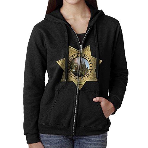 Blingerstore Casual Womens Temple Square Full-Zip Sweatshirt Hoodie Jacket Large