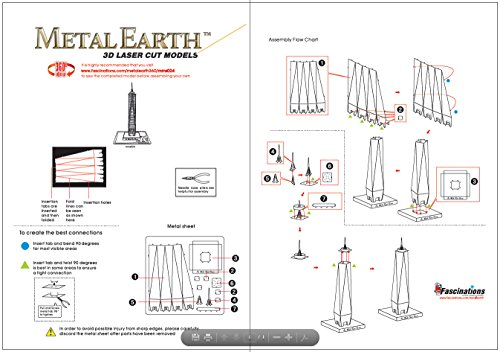 Fascinations Metal Earth One World Trade Center Building 3D Metal Model Kit