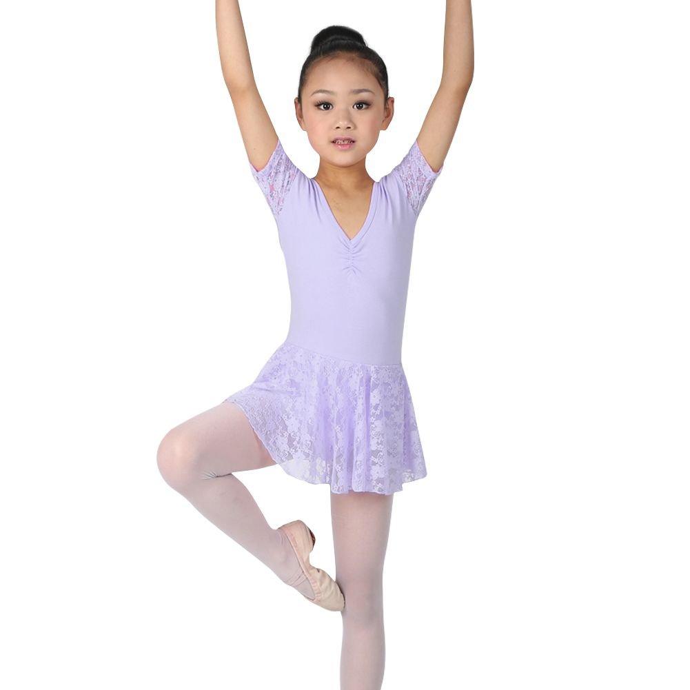 Norbi Kids Girls Leotard Ballet Gymnastics Dance Dress