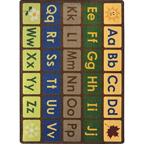 Joy-Carpets-Kid-Essentials-Early-Childhood-Any-Day-Alphabet-Rug-Earthtone-54-x-78