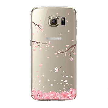 the latest 0b855 c5e92 Urberry Galaxy S7 Edge Case, S7 Edge Soft Case, Spring Flower Case Cover  for Samsung Galaxy S7...