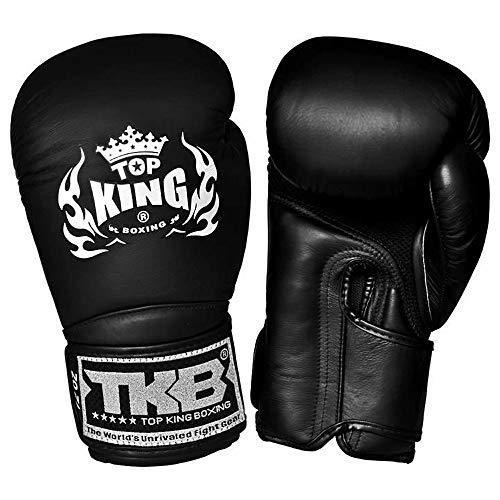 Top King Muay Thai Boxing Gloves TKBGSA AIR MMA UFC Kick Boxing K1 Training Punching Gloves (Air - Black/Black/Black, 18 oz)