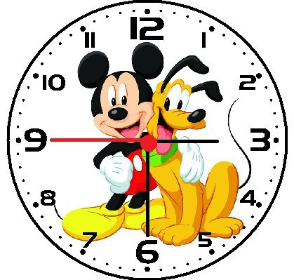 Rusch Inc. Mickey Mouse and Pluto Wall Clock