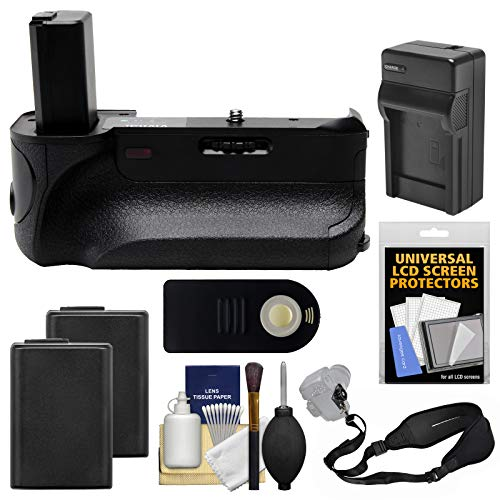 Vivitar Deluxe Power Battery Grip for Sony Alpha A6000 Camera with Wireless Remote + 2 Batteries & Charger + Strap + Kit