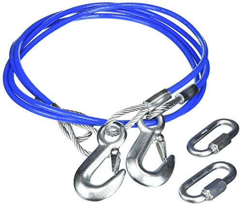 Roadmaster 645 Safety Cable 8,000 Pound Capacity Single Hook 64 Inch Straight Cable - One Pair