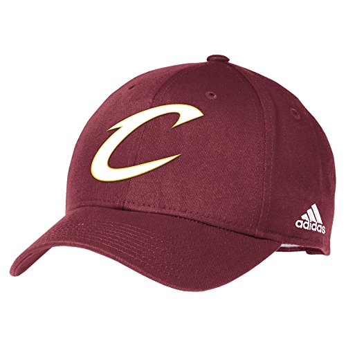 NBA Cleveland Cavaliers Men's Basics Structured Adjustable Hat, One Size, Maroon