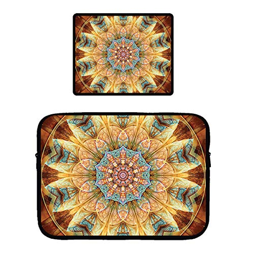 Laptop & MacBook PRO Zipper Sleeve Bag & Locking Edge Mouse Pad Mandalas from The Heart of Changest 13
