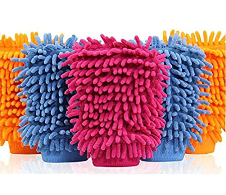Aloud Creations Double Sided Microfiber Cleaning Gloves Pack of 5