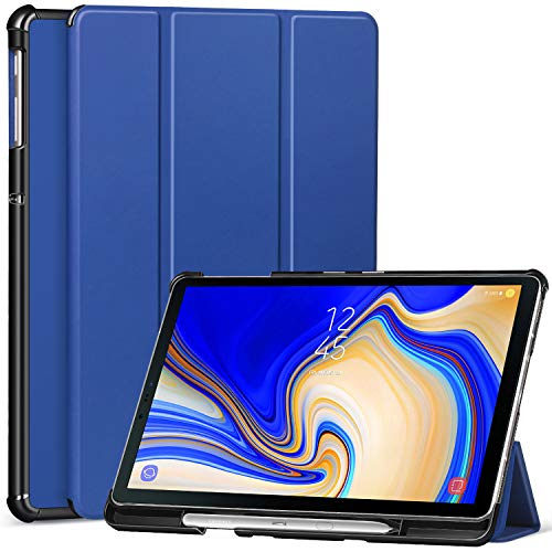 Ztotop Case for Samsung Galaxy Tab S4 10.5 Inch 2018 with S Pen Holder- Lightweight Slim Trifold Stand Cover with Auto Sleep/Wake for Samsung Tab S4 10.5 Inch Tablet SM-T830 /T835/T837-Navy Blue (Poetic Samsung Tab 4 7)