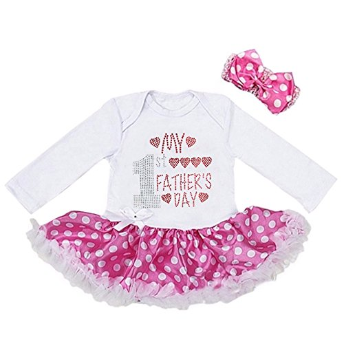 Kirei Sui Baby 1st Father'ss Day Bodysuit Tutu M Long Sleeved Polka Dots