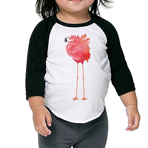 SH-rong Pink Flamingo Toddler Baseball T-shirt Size3 -