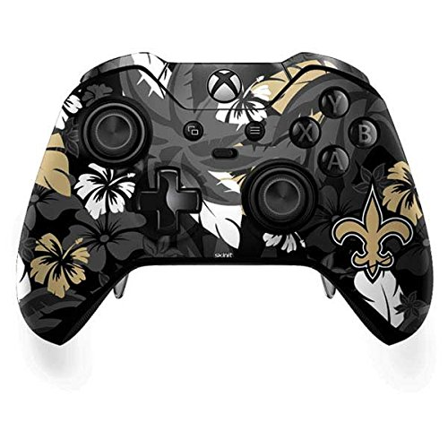 Controller Orleans New Saints (Skinit NFL New Orleans Saints Xbox One Elite Controller Skin - New Orleans Saints Tropical Print Design - Ultra Thin, Lightweight Vinyl Decal Protection)