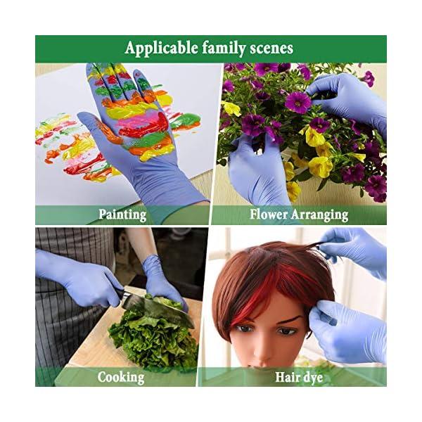Slimerence Guantes médicos desechables de nitrilo, sin polvo, alimentos estructurados, industria química doméstica, caja… 12