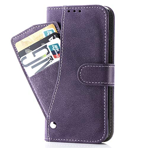 Asuwish Note 5 Wallet Case,Luxury Leather Phone Cases with Credit Card Holder Slim Kickstand Stand Flip Folio Protective Cover for Samsung Galaxy Note 5 Note5 Women Girls Men Purple