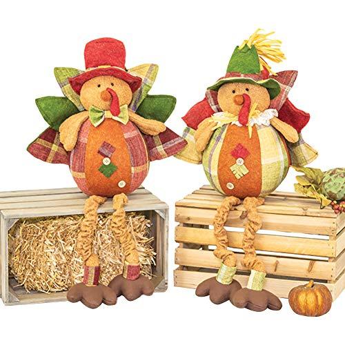 Hanna's Handiworks Thanksgiving Banquet Turkey Dangle Leg 2 ASST ()