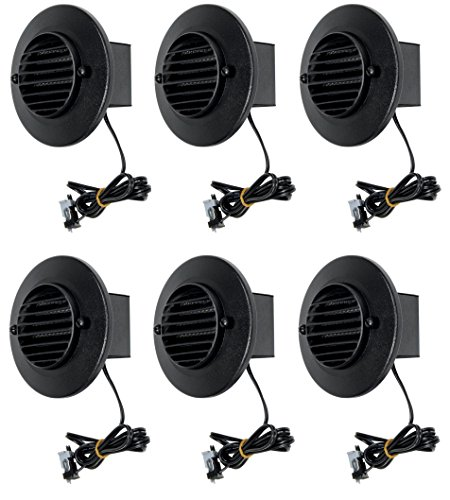 6 Pack Malibu 8401-9403-06 LED Deck Step Round Recessed Lights Low Voltage with Black Finish BY MALIBU DISTRIBUTION - Round Low Voltage Deck