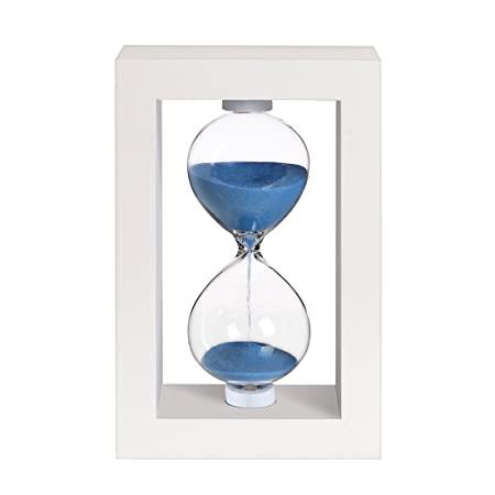 bojin 10 minute hourglass wooden white stand hourglass sand timer