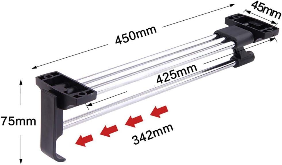 Taille : 30cm FKKURACK Garde-Robe Simple Extensible r/étractable Porte-Manteau Rail Porte-Manteau Tringle 30//35//40//45 // 50cm