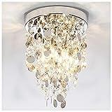 GLANZHAUS Elegant Designed Mini Style Lighting Fixture Crystal Ceiling Light, Crystal Chandeliers Light Crystal Chandelier for Living Room Dining Room Bedroom, 3-Lights Review