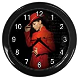 KKG021-2 New Black Wall Clock Modern Roger Nelson Prince 20ten