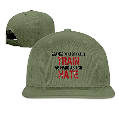 QWERT Unisex Maybe You Should Train As Hard As You Hate Flat Billed Cap Baseball-caps 1 Size ColorKey