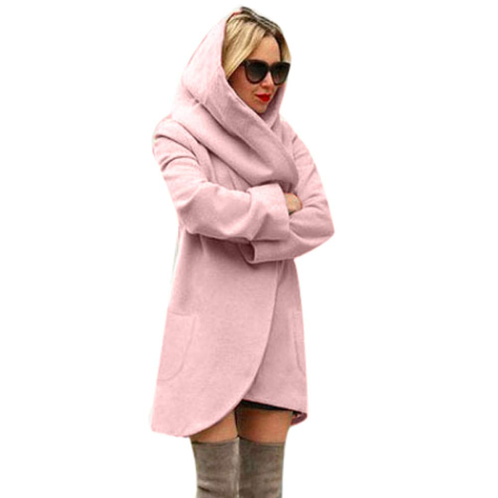Amazon.com: Ghazzi Women Jackets Hooded Thin Coat Solid Casual Loose Cardigan Overcoat Outerwear Parka Trench Pea Coats: Clothing