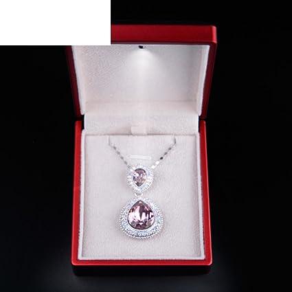 TRE propuesta de matrimonio creativo de joyasLED caja del anillo/ caja de anillo de nudo